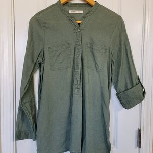 Old Navy Olive Green Linen Shirt